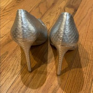 Vince Camuto Shoes - Silver snakeskin heels